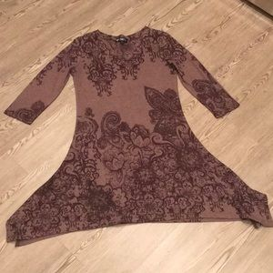 Papillon brown cotton dress